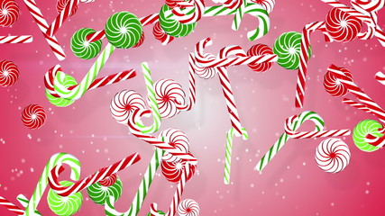 christmas candy canes loopable background
