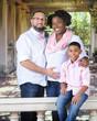 Family in a Summertime Gazebo