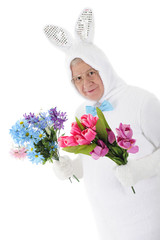 Flowers from the Senior Bunny