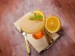 canvas print picture - orange mousse with cinnamon