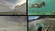 Sport and adventure split screen shots