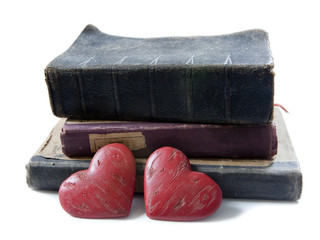 coeurs symbole de passion des livres