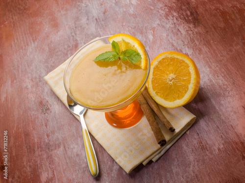 canvas print picture orange mousse with cinnamon