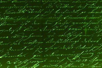 Handwritten text pattern for background or as wallpaper