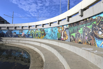 Graffiti on the wall in Kazan