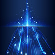 abstract futuristic circuit  technology background vector