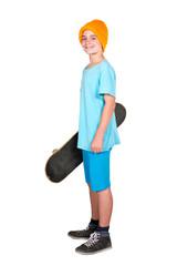 boy with a skateboard