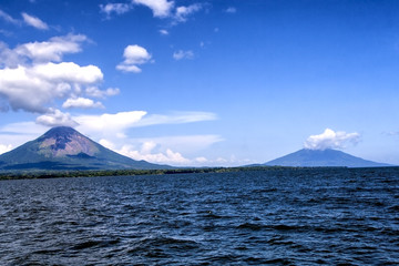two volcano,Concepcion and Maderas, in Ometepe Island, Nicaragua