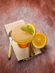 orange mousse with cinnamon