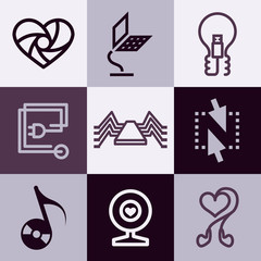Electronics icons vector set