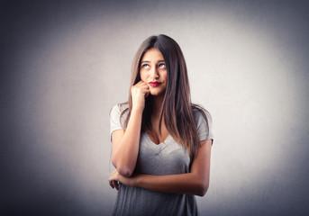 Girl thinking of something