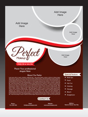 perfect parlor flyer template