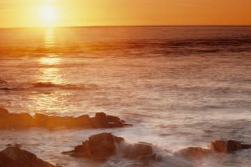 tramonto spiaggia coste brettoni penisola di quiberon bretagna