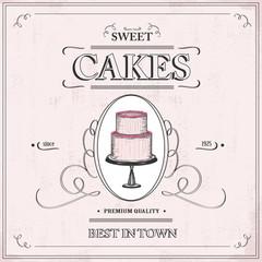 vintage cake background - label