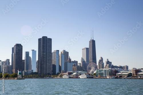 Fotobehang Grote meren Chicago