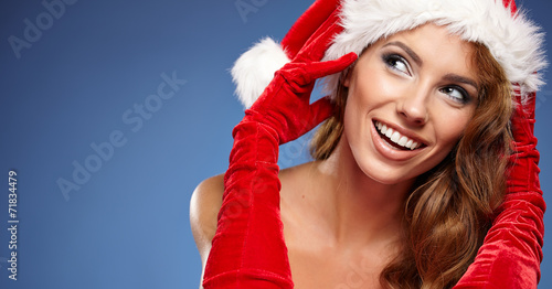 canvas print picture Christmas woman
