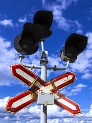 Old railway semaphore