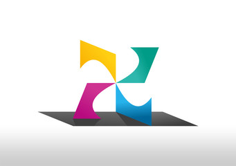 Building Abstract paper business CMYK logo symbol icon 1
