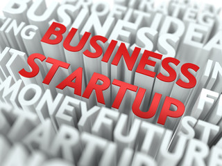 Business Startup - Wordcloud Concept.