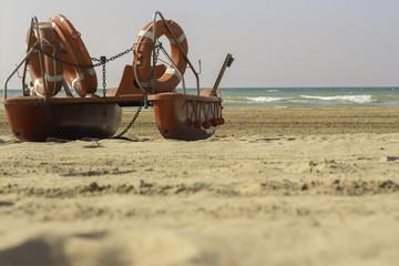 Rettungsboot an der Adria
