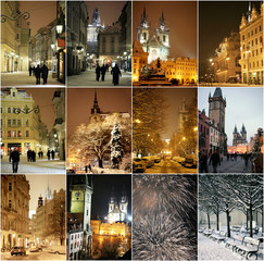 Winter night in Prague
