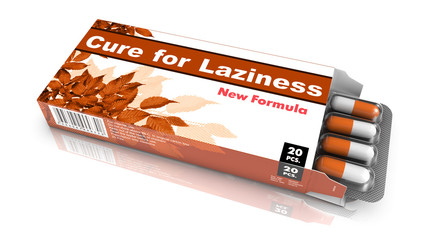 Cure for Laziness - Blister Pack Tablets.