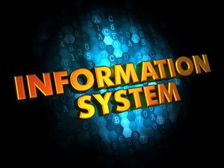 Information System - Gold 3D Words.