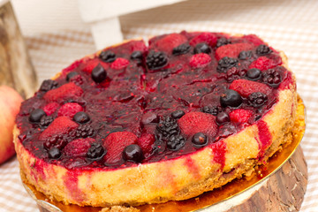 Sweet cakes with berries