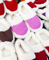 Pile slippers exposed to a fair