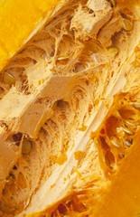 Detail of inside a ripe pumpkin