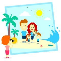 Family Fun Photo Shoot At The  Beach
