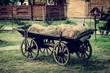 Ancient vehicle on a farm