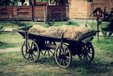 Ancient vehicle on a farm