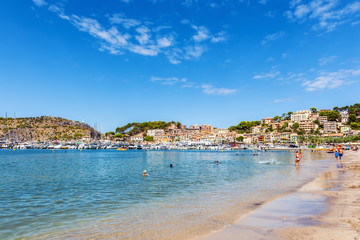 Beach and harbour of Puerto de Soller