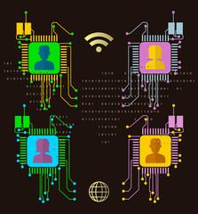 Social Network connection concept