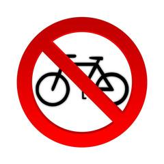 Radfahren Verbotsschild