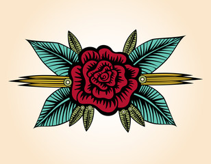 Small Rose Tattoo Style