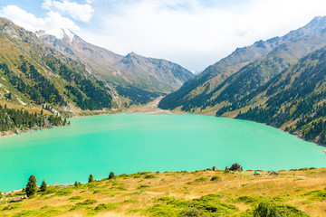 Spectacular scenic Big Almaty Lake Mountains in Almaty