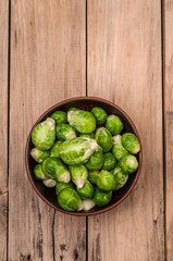 Brussels sprouts in bow
