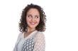 canvas print picture - Glückliche junge Frau blickt lachend zur Seite: Freisteller