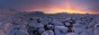 Leinwandbild Motiv Arctic PANORAMA - golden hour - 3 minutes before the sunrise