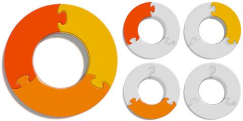 Circle Puzzle 03 - Orange