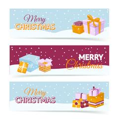 Christmas gift box banners