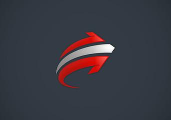 arrow abstract right direction vector logo