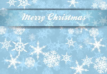 Merry Christmas Card Snowflakes Background