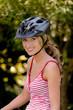 Frau mit Mountainbike Fahrrad