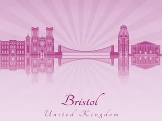 Bristol skyline in purple radiant orchid