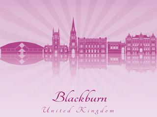 Blackburn skyline in purple radiant orchid