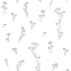 herbal floral hand drawn pattern