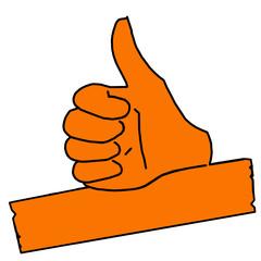 tus29 ThumbUpSign tus-v4 Daumen hoch - minus10grad orange g2129
